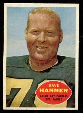 1960 Topps #59 - Dave Hanner - ex