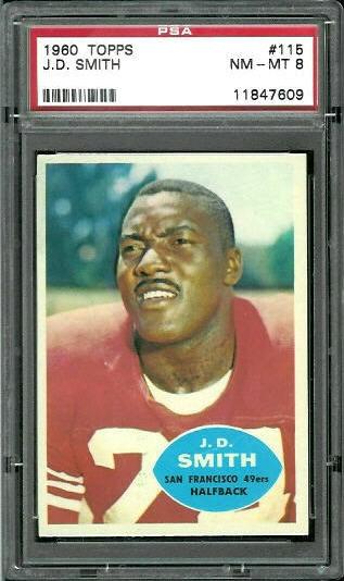1960 Topps #115 - J.D. Smith - PSA 8