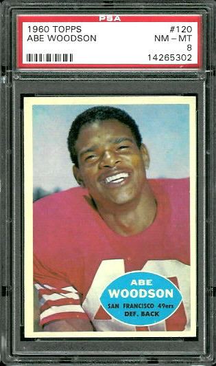 1960 Topps #120 - Abe Woodson - PSA 8
