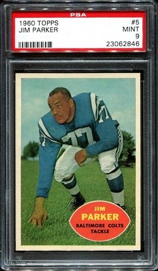 1960 Topps #5 - Jim Parker - PSA 9