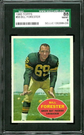 1960 Topps #58 - Bill Forester - SGC 88