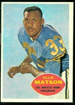1960 Topps #63 - Ollie Matson - nm