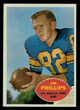 1960 Topps #66 - Jim Phillips - exmt