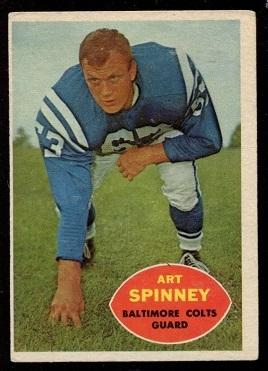 1960 Topps #7 - Art Spinney - exmt