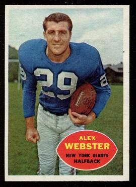 1960 Topps #75 - Alex Webster - nm