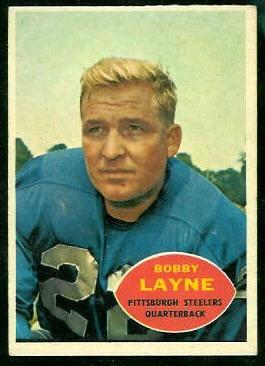 1960 Topps #93 - Bobby Layne - ex