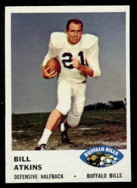 1961 Fleer #141 - Bill Atkins - nm