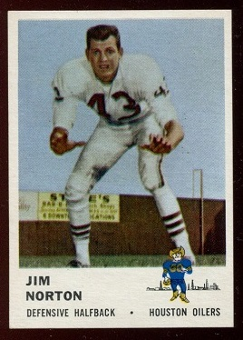 1961 Fleer #174 - Jim Norton - nm-mt