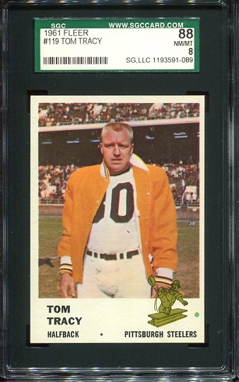 1961 Fleer #119 - Tom Tracy - SGC 88
