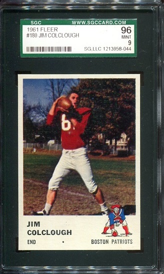 1961 Fleer #180 - Jim Colclough - SGC 96