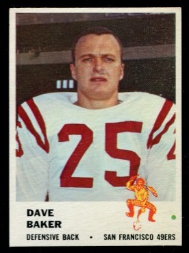 1961 Fleer #64 - Dave Baker - nm