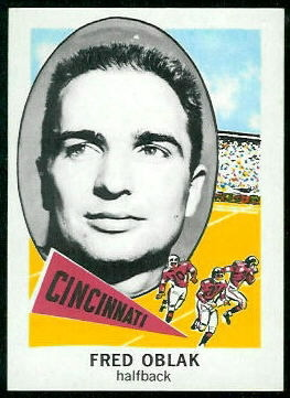 1961 Nu-Card #115 - Fred Oblak - nm-mt