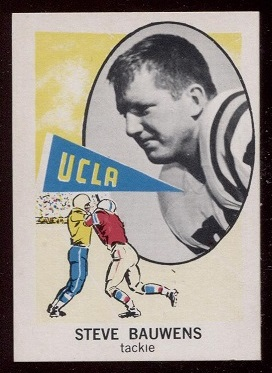 1961 Nu-Card #124 - Steve Bauwens - nm-mt