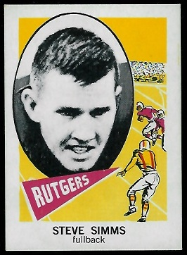 1961 Nu-Card #126 - Steve Simms - nm
