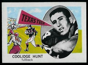 1961 Nu-Card #139 - Coolidge Hunt - nm