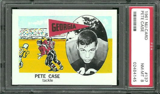 1961 Nu-Card #137 - Pete Case - PSA 8
