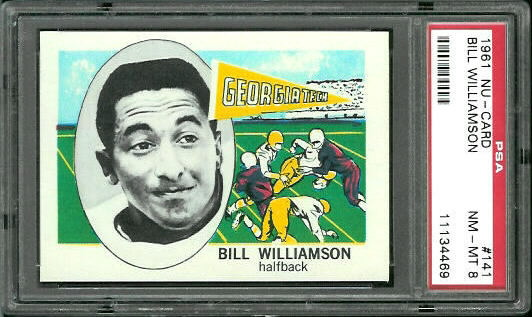 1961 Nu-Card #141 - Bill Williamson - PSA 8