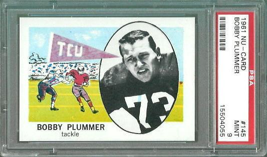 1961 Nu-Card #145 - Bobby Plummer - PSA 9