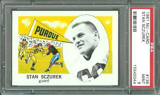 1961 Nu-Card #136 - Stan Sczurek - PSA 9