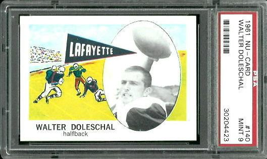 1961 Nu-Card #140 - Walter Doleschal - PSA 9