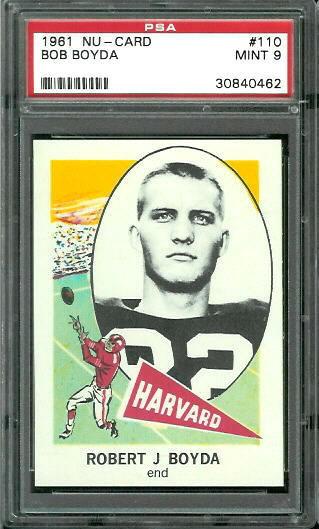 1961 Nu-Card #110 - Bob Boyda - PSA 9