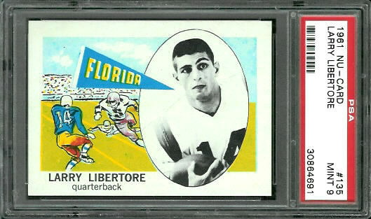 1961 Nu-Card #135 - Larry Libertore - PSA 9