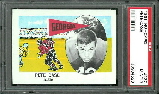 1961 Nu-Card #137 - Pete Case - PSA 9