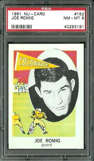 1961 Nu-Card #152 - Joe Romig - PSA 8