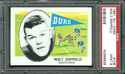 1961 Nu-Card #108 - Walt Rappold - PSA 9