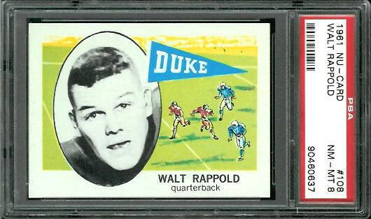 1961 Nu-Card #108 - Walt Rappold - PSA 8