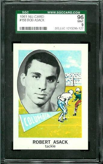 1961 Nu-Card #158 - Bob Asack - SGC 96