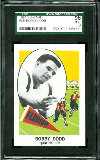 1961 Nu-Card #130 - Bobby Dodd Jr - SGC 96