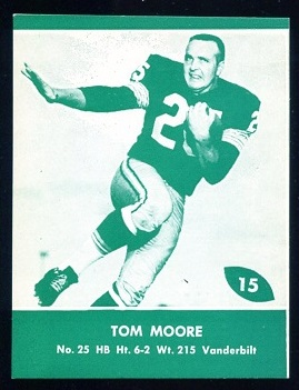 1961 Packers Lake to Lake #15 - Tom Moore - nm