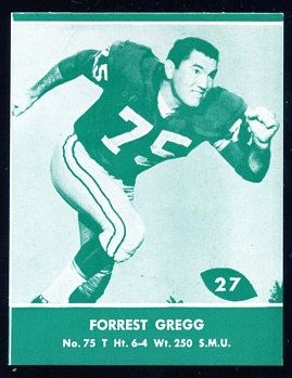 1961 Packers Lake to Lake #27 - Forrest Gregg - nm+