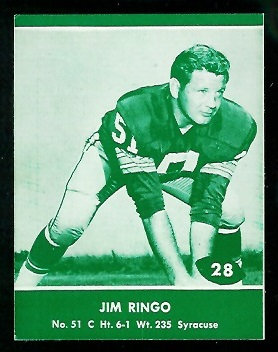 1961 Packers Lake to Lake #28 - Jim Ringo - nm