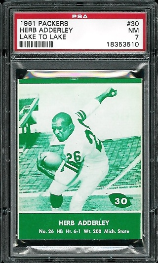 1961 Packers Lake to Lake #30 - Herb Adderley - PSA 7