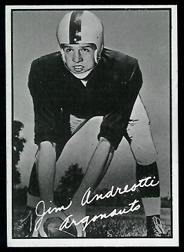 1961 Topps CFL #103 - Jim Andreotti - exmt