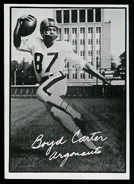 1961 Topps CFL #104 - Boyd Carter - ex+
