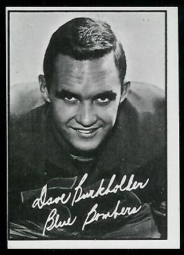 1961 Topps CFL #118 - Dave Burkholder - ex