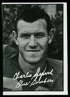 1961 Topps CFL #131 - Charlie Shepard - nm mc
