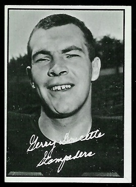 1961 Topps CFL #18 - Jerry Doucette - exmt