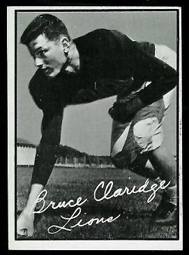 1961 Topps CFL #2 - Bruce Claridge - exmt