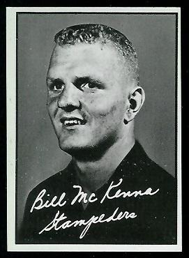 1961 Topps CFL #23 - Bill McKenna - exmt