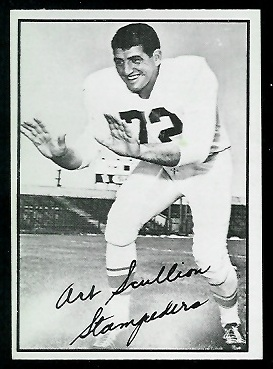 1961 Topps CFL #27 - Art Scullion - exmt