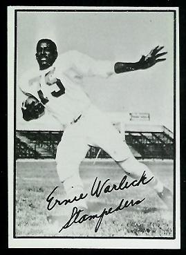 1961 Topps CFL #28 - Ernie Warlick - nm oc