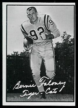 1961 Topps CFL #47 - Bernie Faloney - ex