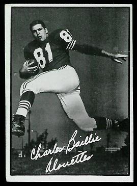 1961 Topps CFL #66 - Charles Baillie - ex