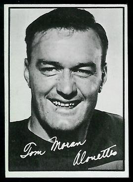1961 Topps CFL #69 - Tom Moran - exmt