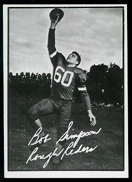 1961 Topps CFL #87 - Bob Simpson - ex+