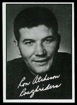 1961 Topps CFL #90 - Ron Atchison - exmt